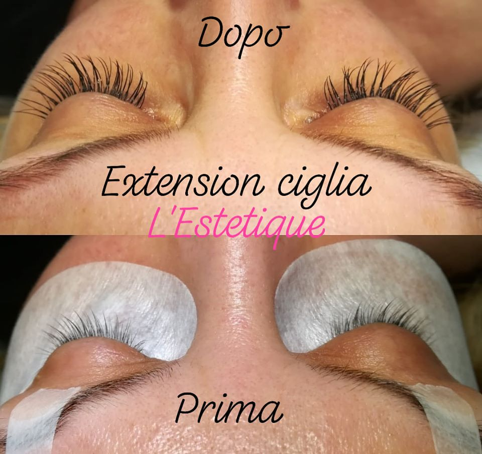 Extension ciglia one to one